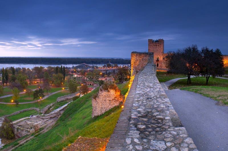 Noche Belgrado fotos de archivo