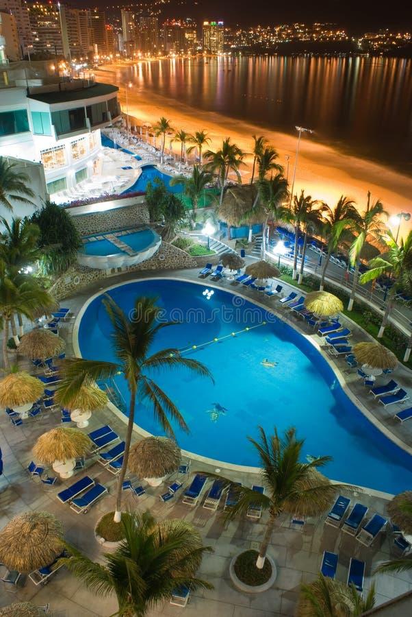 Noche de Acapulco imagen de archivo