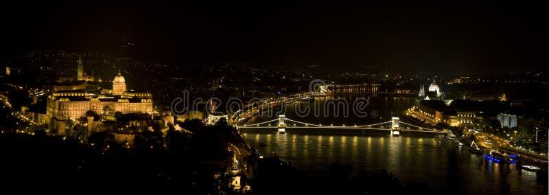 Noche de Budapest imagen de archivo libre de regalías