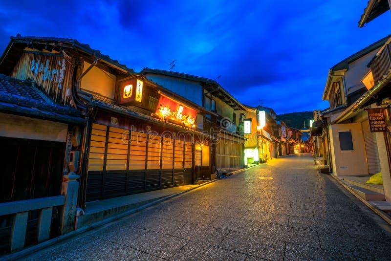 Noche de Gion Higashi imágenes de archivo libres de regalías