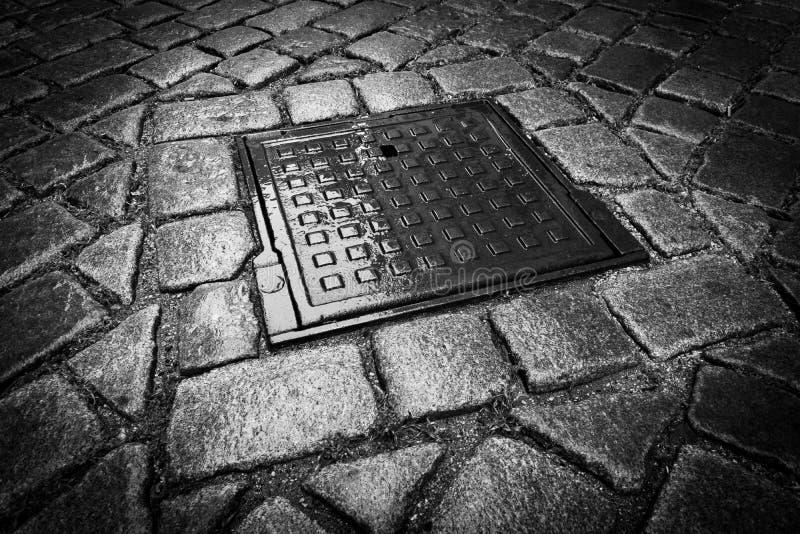 Noche de la calle Cobblestone imagen de archivo libre de regalías