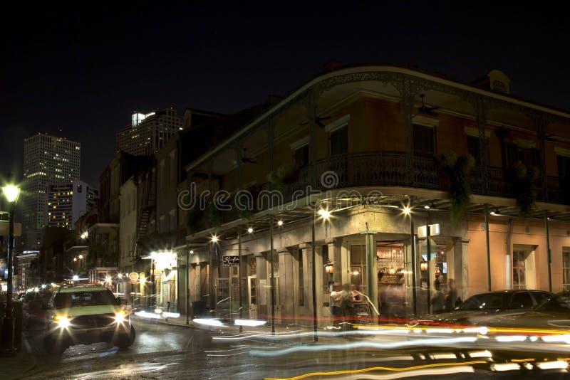 Noche de la calle de Borbón foto de archivo libre de regalías