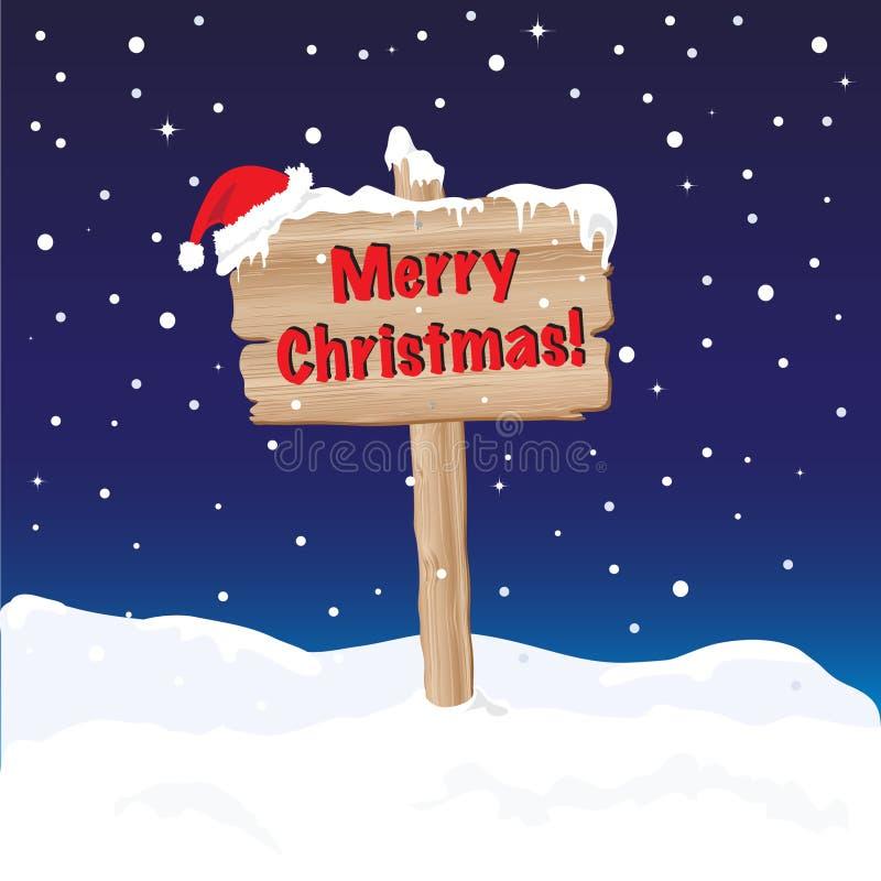 Noche de la muestra de la Feliz Navidad stock de ilustración