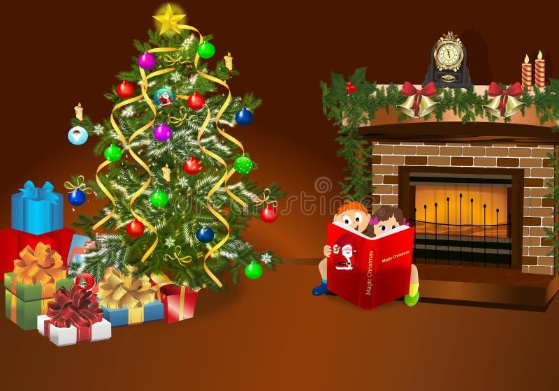 Noche de la Navidad ilustración del vector
