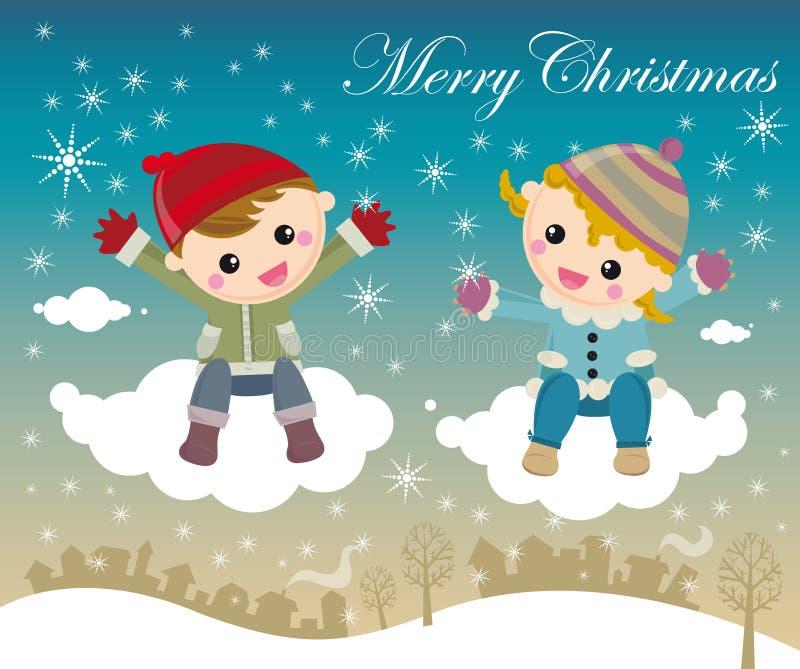 Download Noche de la Navidad ilustración del vector. Ilustración de muchacha - 7275107