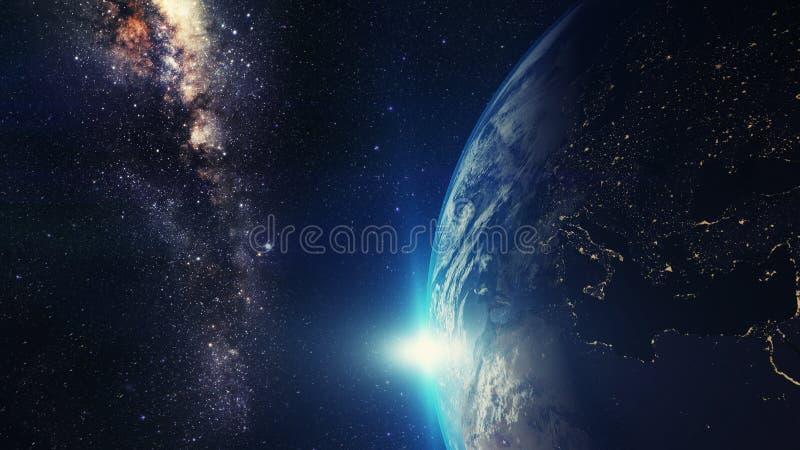 Noche de la tierra imagen de archivo