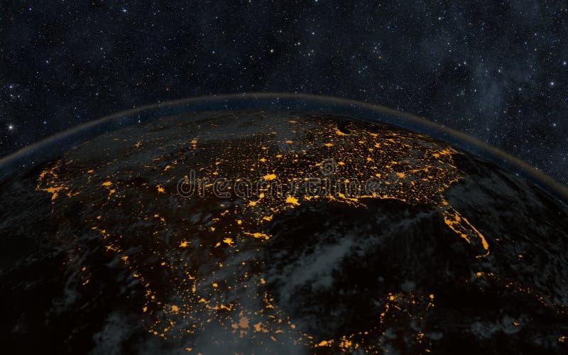 Noche de la tierra foto de archivo libre de regalías