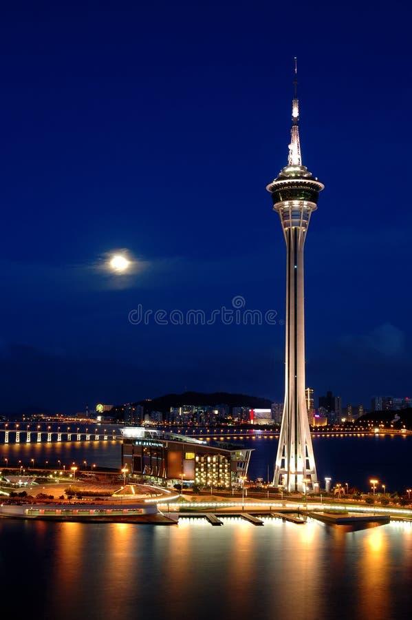 Noche de la torre imágenes de archivo libres de regalías