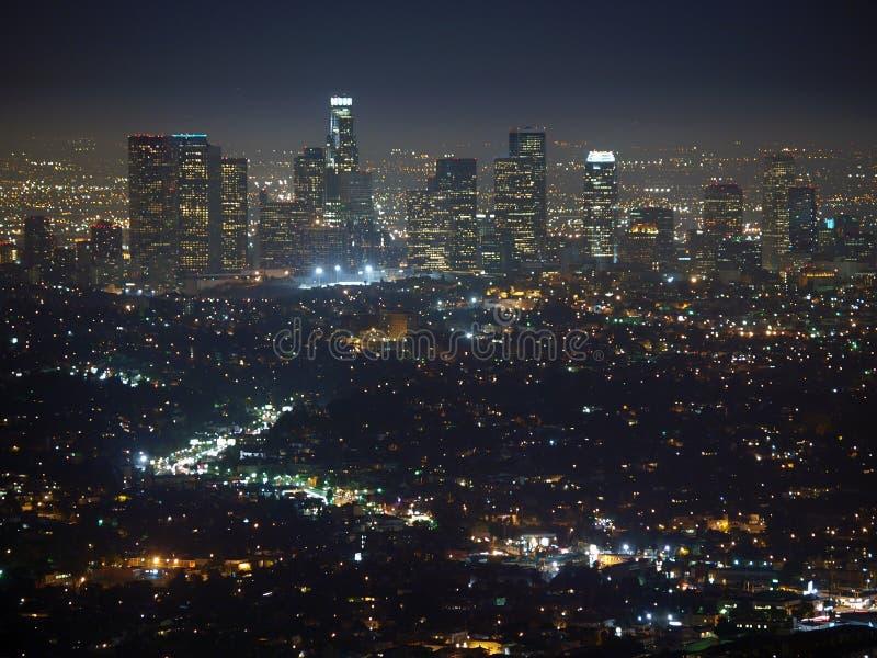 Noche de Los Ángeles foto de archivo libre de regalías