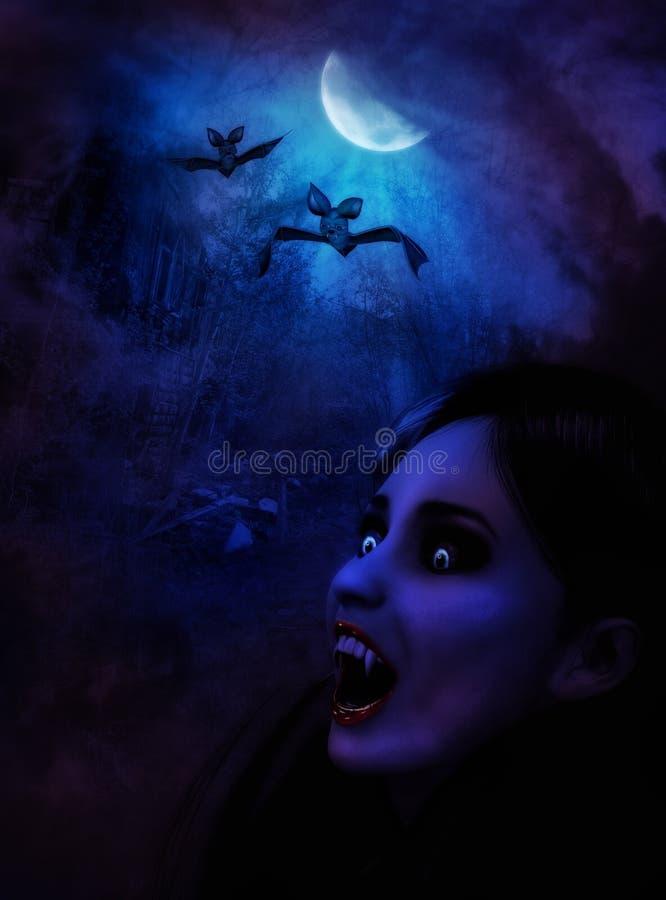 Noche de los vampiros ilustración del vector