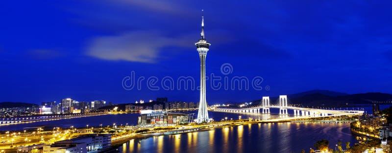 Noche de Macao imagenes de archivo