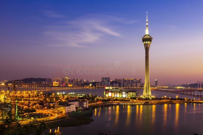 Noche de Macao foto de archivo libre de regalías