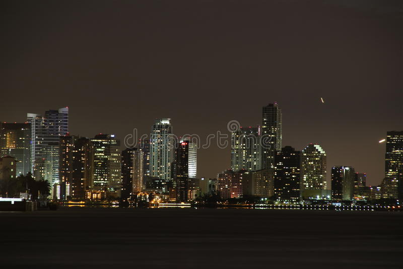 Noche de Miami fotos de archivo libres de regalías