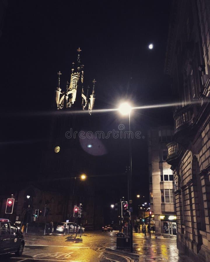 Noche de Newcastle fotografía de archivo