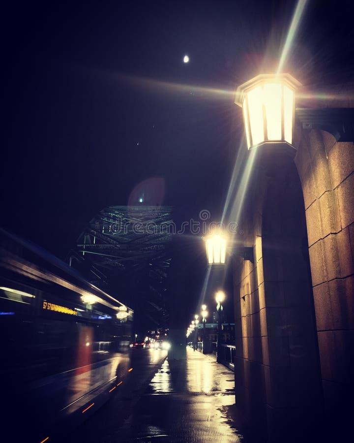 Noche de Newcastle imágenes de archivo libres de regalías