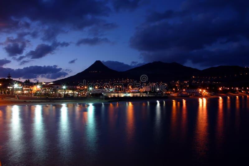Noche de Oporto Santo fotografía de archivo libre de regalías