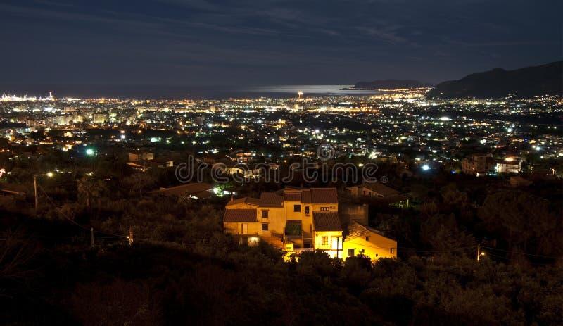 Noche de Palermo fotografía de archivo