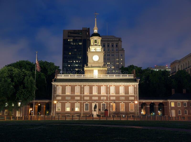 Noche de Pasillo de la independencia fotografía de archivo libre de regalías