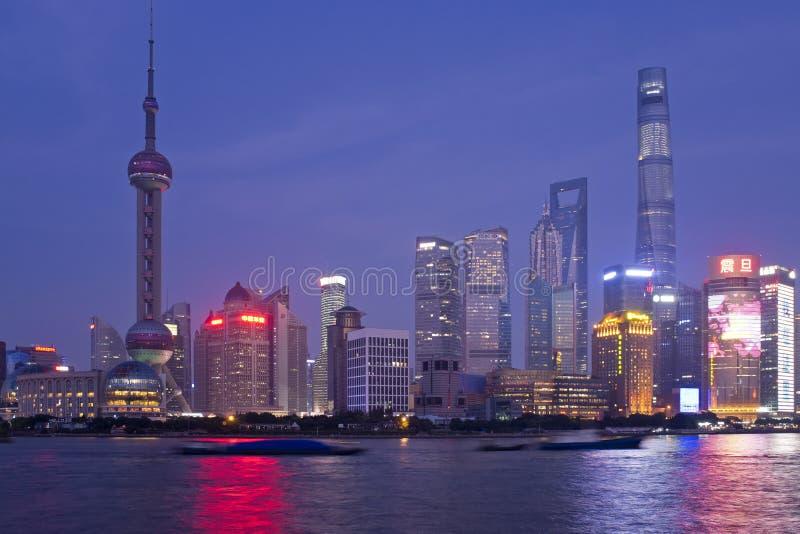 Noche de Shangai fotografía de archivo libre de regalías