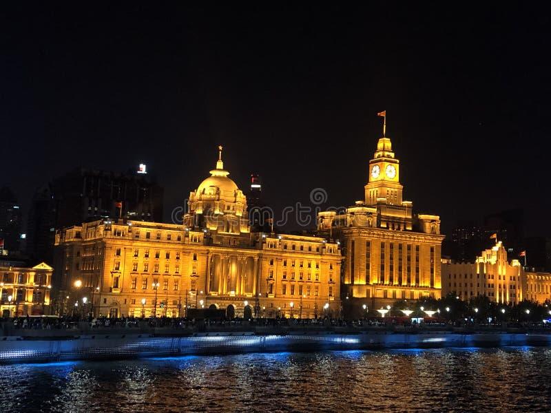Noche de Shangai fotos de archivo libres de regalías