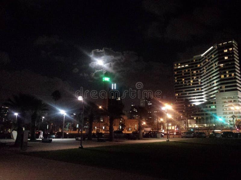 Noche de Tel Aviv fotografía de archivo libre de regalías