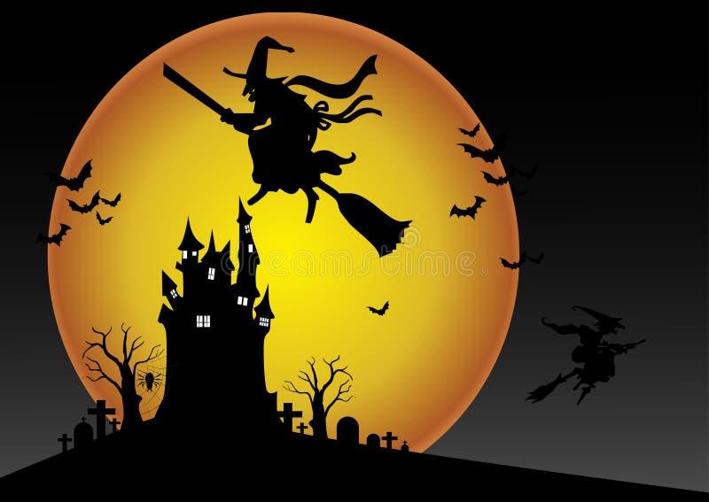 Noche de Halloween ilustración del vector