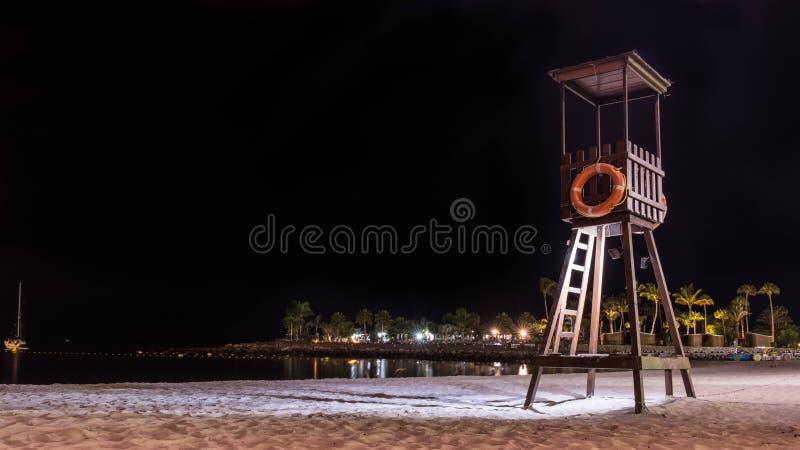 Noche de verano en la isla de Gran Canaria España foto de archivo