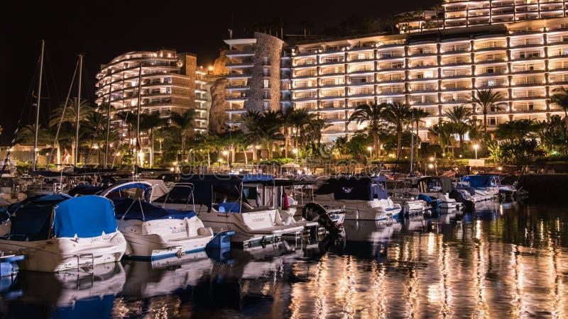 Noche de verano en la isla de Gran Canaria España imagen de archivo