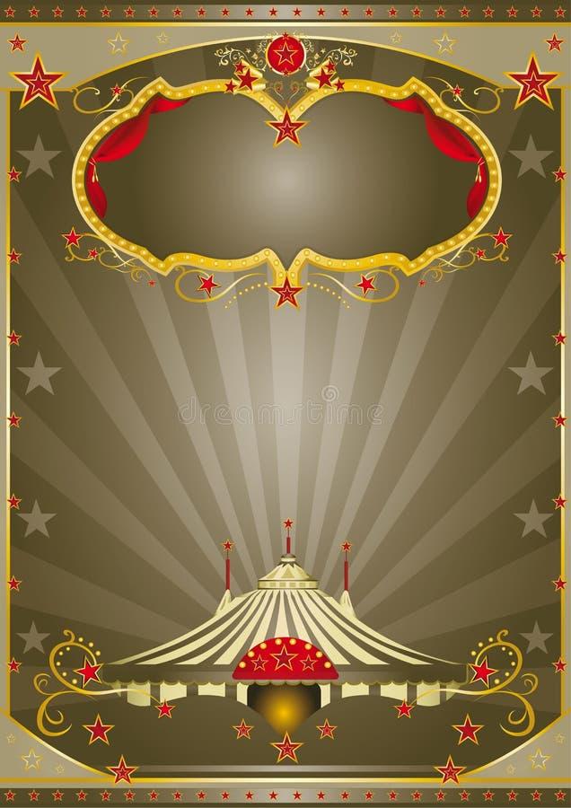 Noche del circo de Brown stock de ilustración
