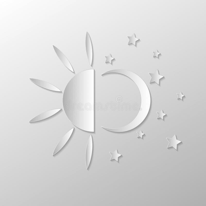 Noche del día ilustración del vector