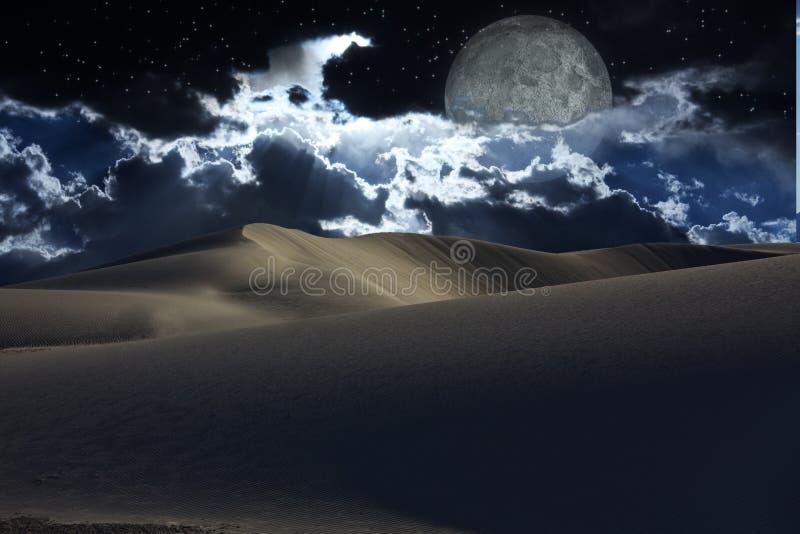 Noche del desierto ilustración del vector