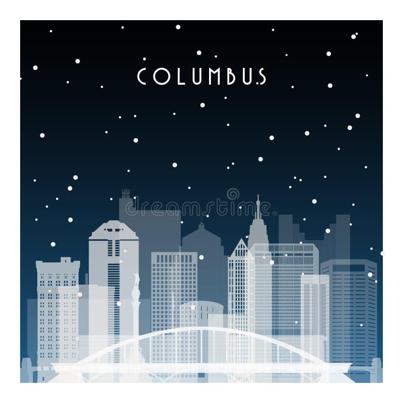 Noche del invierno en Columbus libre illustration