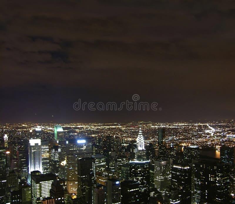 Noche del nyc de la visión   imagenes de archivo