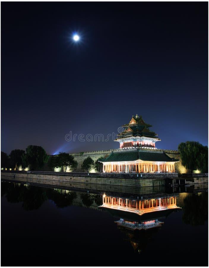 Noche del palacio imperial imagen de archivo