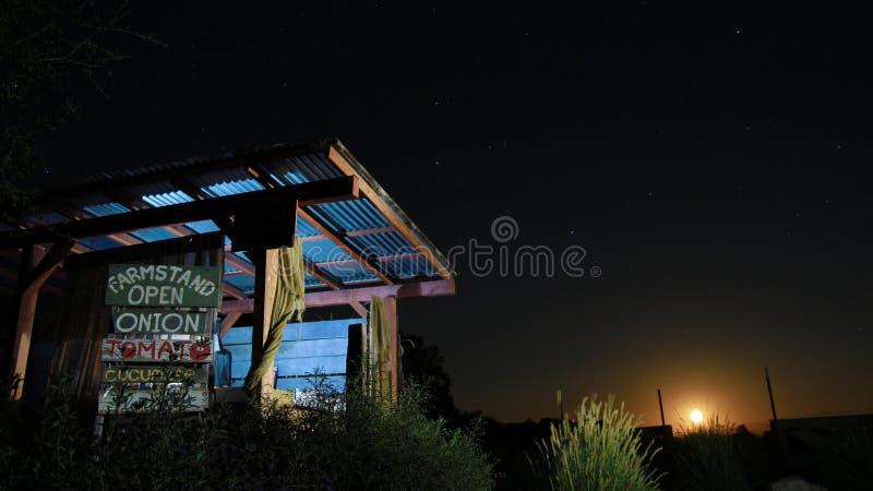 Noche del soporte de la granja foto de archivo libre de regalías