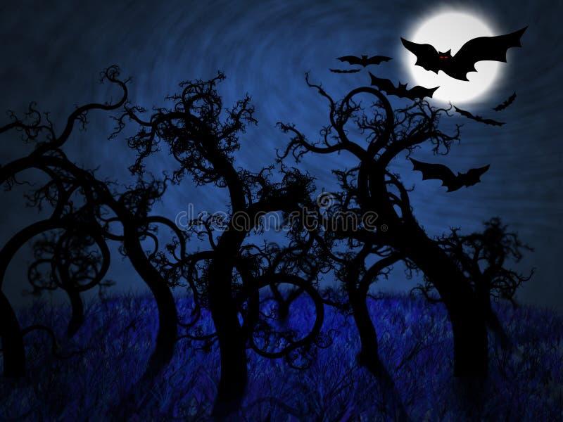 Noche del susto stock de ilustración