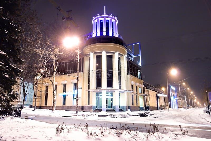 Noche Dnepropetrovsk imagenes de archivo