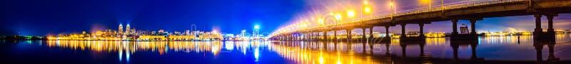 Noche en Dnepropetrovsk foto de archivo libre de regalías