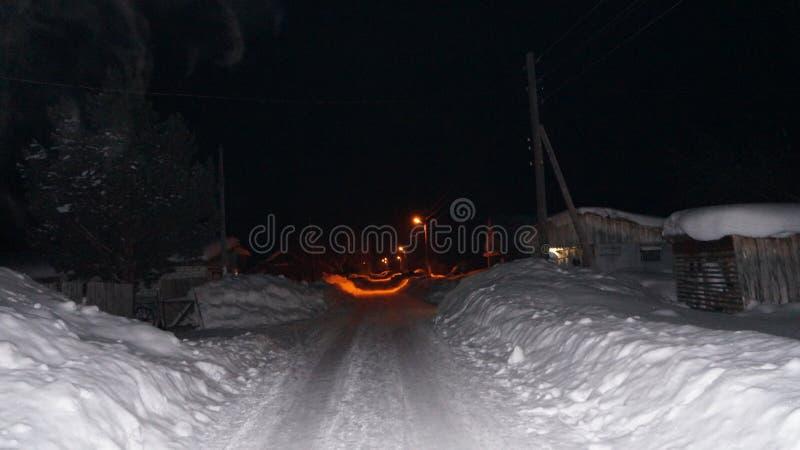 Noche en la aldea foto de archivo libre de regalías