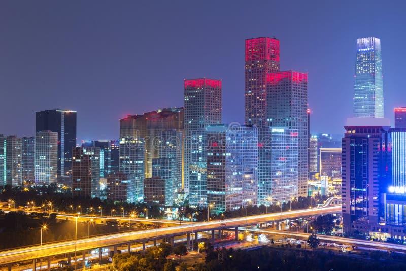 Noche en Pekín imagenes de archivo