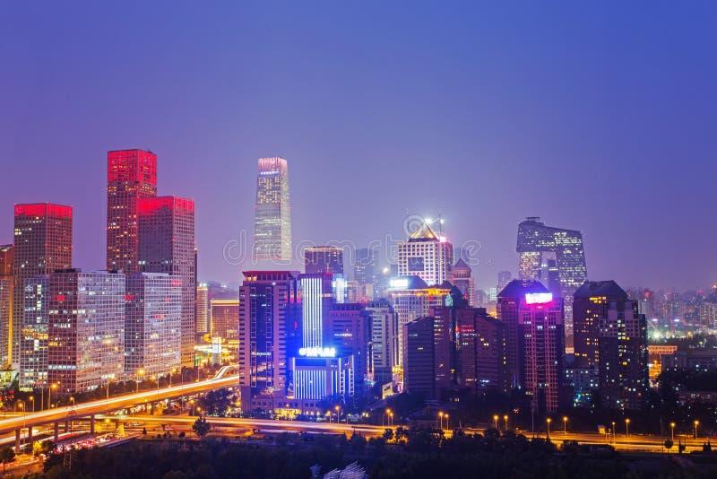 Noche en Pekín foto de archivo