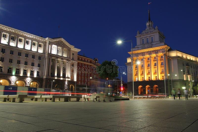 Noche en Sofía, Bulgaria imagen de archivo libre de regalías