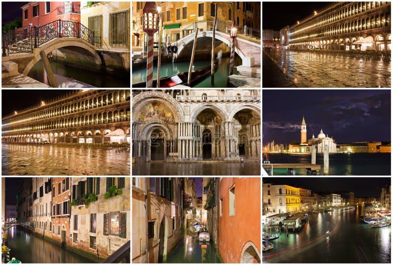 Noche en Venecia imagen de archivo libre de regalías