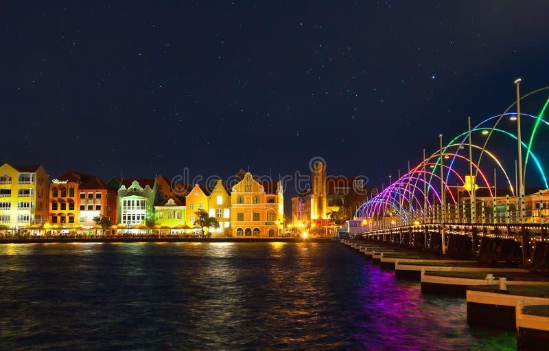 Noche en Willemstad fotografía de archivo libre de regalías