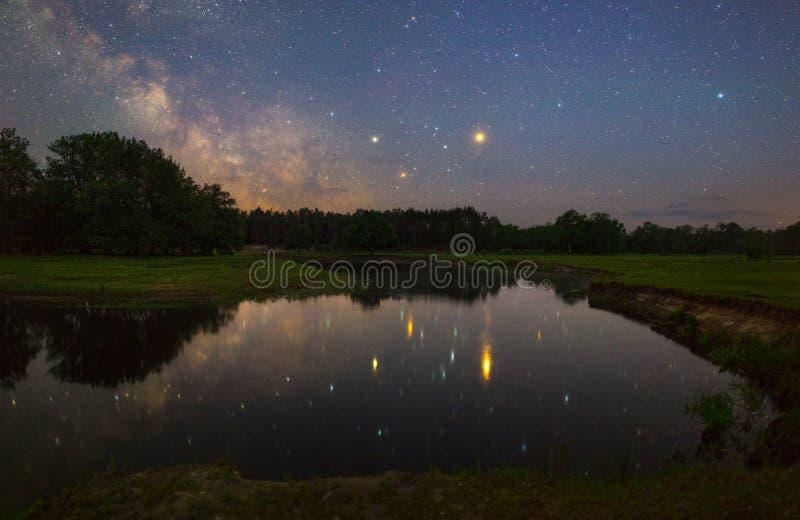 Noche estrellada foto de archivo libre de regalías