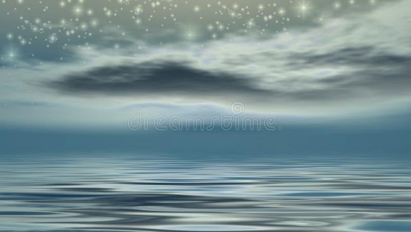 Noche estrellada stock de ilustración