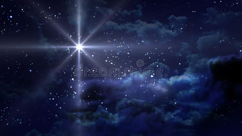 Noche estrellada azul stock de ilustración