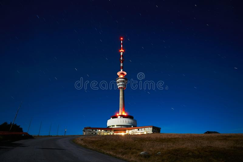 Noche estrellada en la República Checa fotos de archivo libres de regalías