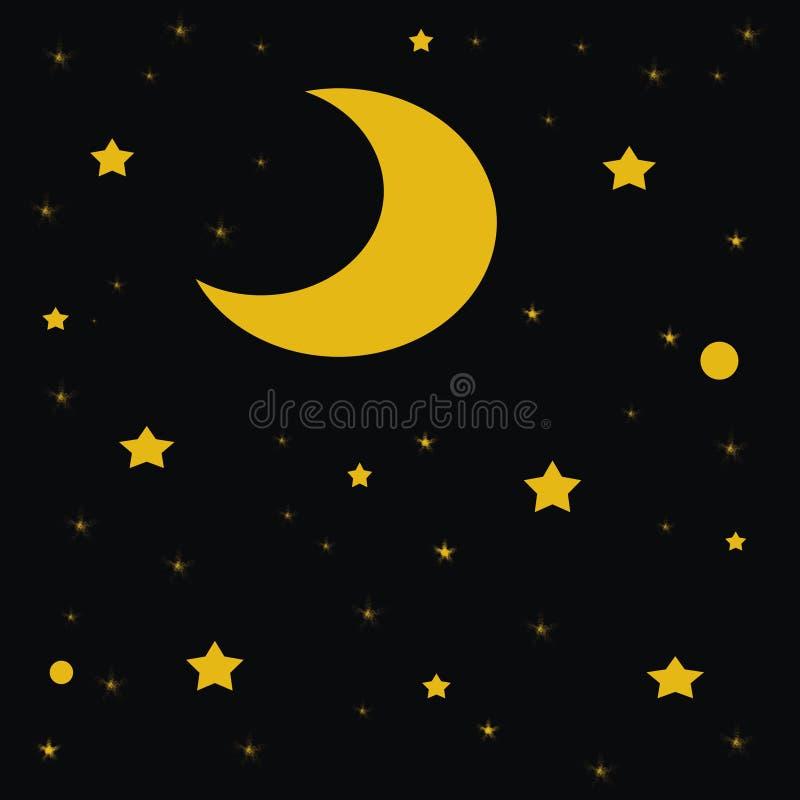 Noche estrellada estrellada libre illustration