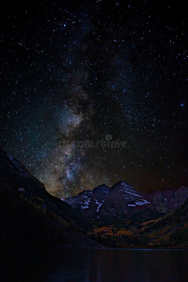 Noche estrellada marrón de Belces fotos de archivo
